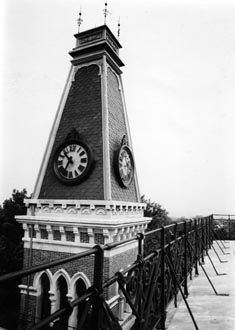 East College Tower Roof BW.jpg