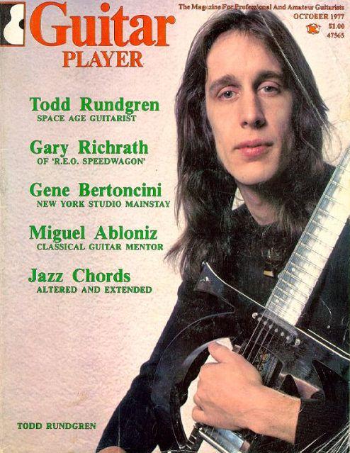 Todd Rundgren Gtr Player 1977