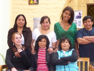 Roseman with students in Ecuador.JPG