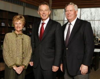 Ubbens with Tony Blair