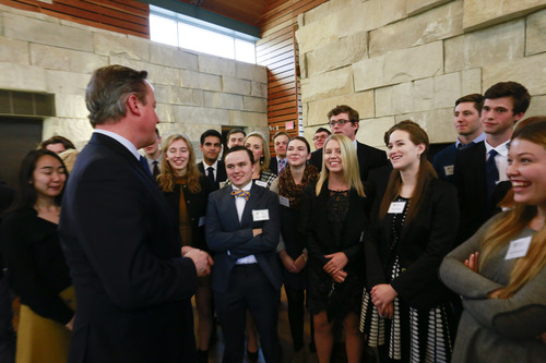 David Cameron at Prindle Institute